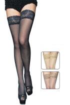 Lace Top Black Sheer Thigh High 2119