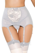 White Mesh And Lace Garter Belt 1183