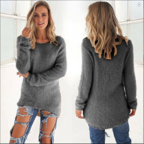 Gray Pullover Sweater 0179