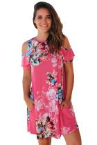 Floral Cold Shoulder A-line Dress With Pocket 3045