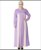Plus Size Muslim Women Prayer Dress Purple 2007