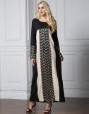 Plus Size Muslim Women Prayer Dress Black 2007