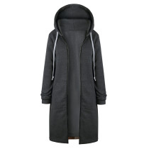 Plus Size Sweater Hoodie Jacket Dark Gray 0581