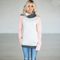 Plus Size Raglan Sleeve Women Hooded Sweater 0597