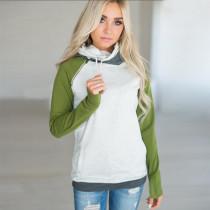 Raglan Sleeve Women Hooded Sweater 0597