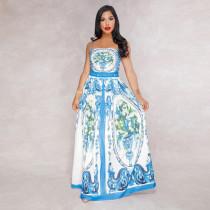 Spaghetti Strap Floral Summer Maxi Dress 1830