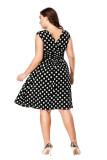 Plus Size Polka Dot Swing Dress 0025