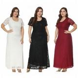 Plus Size Bridemaid Lace Dress 0033