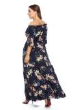 Plus Size Floral Print Maxi Dress XL-6XL 0095