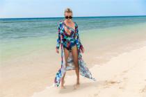 Tie Dye One Piece Swimwear Matching Cover Up YY01