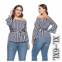 Plus Size Stripe Blouse 0093