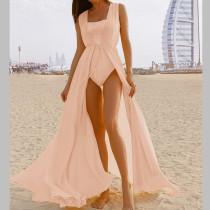 Sheer Chiffon Cover Up Maxi Dress 2881