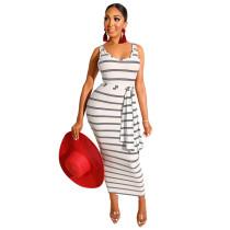 Stripe Maxi Dress 2446
