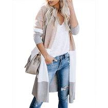 Colorful Stripe Long Caridgan Sweater 5526