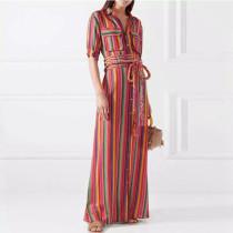 Chiffon Long Shirt Dress 8097