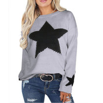 Women's Sweater With Star On It 5529