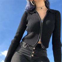 Cropped Sweater Jacket Women 83176