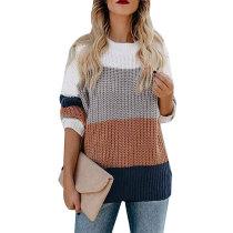 Casual Rainbow Stripe Sweater 5549