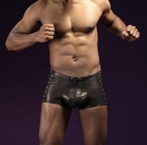 Lace Up Side Vinyl Leather Men Boxers Panty 6624