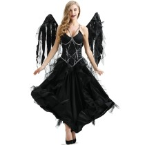 M-XL Dark Angel Dress Costume 9038