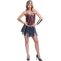 S-XXL Halloween Wonder Women Hero Costume 3791