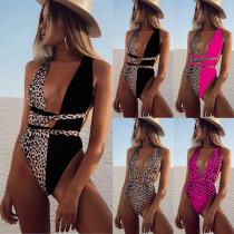 Leopard One Piece Swimsuit B18