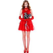 M-XL Halloween Ghost Bride Dress Costume 2903