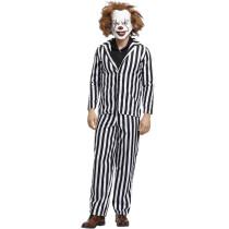 Striped Clown Men Costume 4303