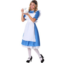 S-XL Adult Maid Cosplay Costume 19012