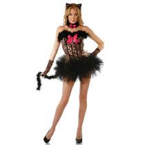 6PCS Sexy Lady Catsuit Costume 2834