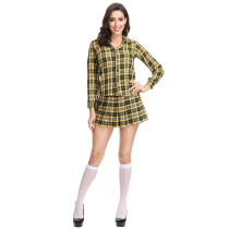 Plaid Student Adult Party Costume 4179