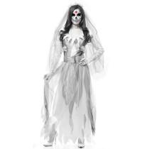White Adult Bride Costume 1810
