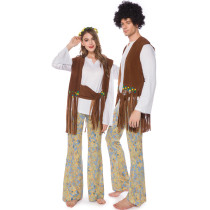 Halloween Hippie Costume for Couples 19035