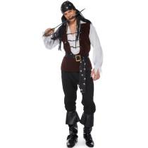 M-XL Men Pirate Cosplay Costume 1823