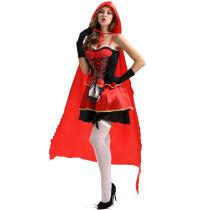 M-XXL Women Red Riding Hood Costume 1705