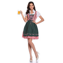 Plaid Beer Girl Costume 1857