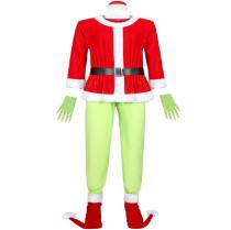 M-XXXL Men Grinch Cosplay Christmas Costume 6078