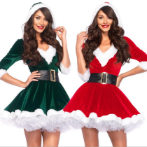 Santa Baby Velvet Christmas Holiday Dress 767
