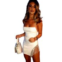Rhinestone Fringe Mini Dress For Club Party 1735240