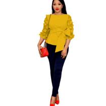 Plus Size Office Blouse Ladies TS02