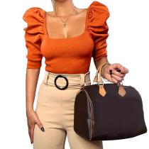 Crop Puff Sleeve Tops For Women 92460P