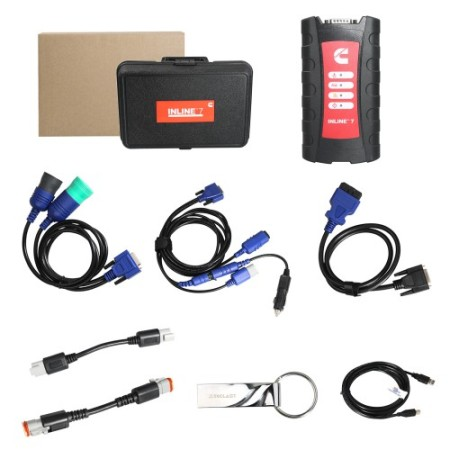 Cummins INLINE 7 Data Link Adapter with Insite 8.3 Software Multi-language Truck Diagnostic Tool