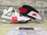 Authentic Air Jordan 4 Retro White Cement