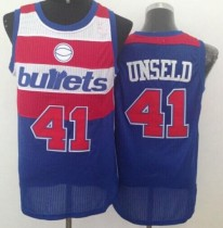 Washington Wizards #41 Wes Unseld Blue Bullets Throwback Stitched NBA Jersey