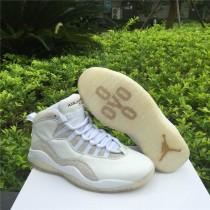 Authentic Air Jordan 10 Retro OVO White