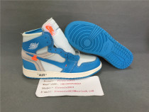 "OFF-WHITE x Air Jordan 1 GS ""Powder Blue"""