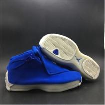 "Authentic Air Jordan 18 ""Blue"""