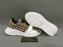 Authentic Burbery Sneakers High Top Brown/White