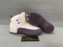 Authentic Air Jordan 12 GS White/Purple