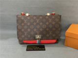 Authentic LV Handbag Brown /Red